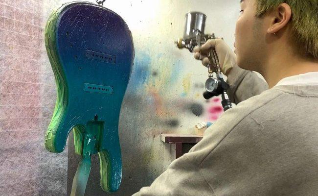 Sagoで楽器ができるまで。塗装編